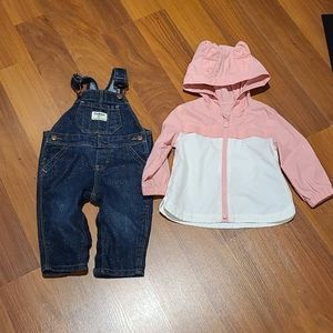 Infant 6 month overall and jacket lot